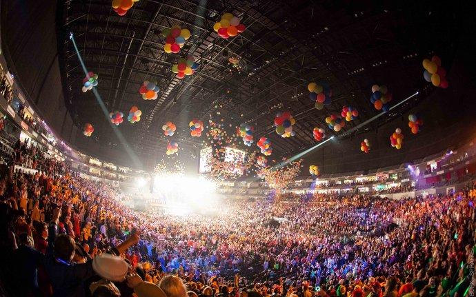 Lachende Köln Arena 2021